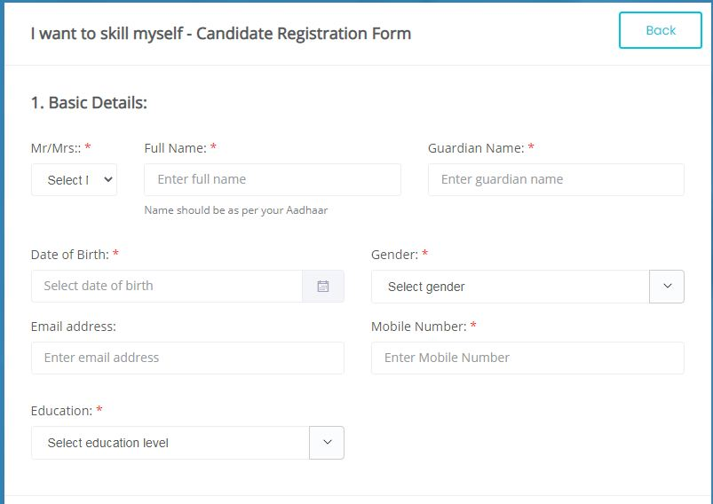 PMKVY Registration online