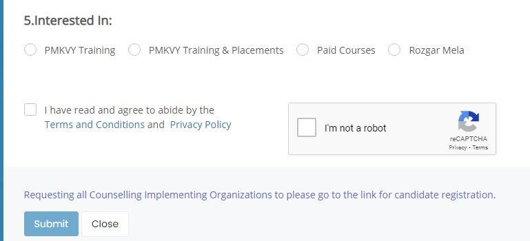 PMKVY registration process training center