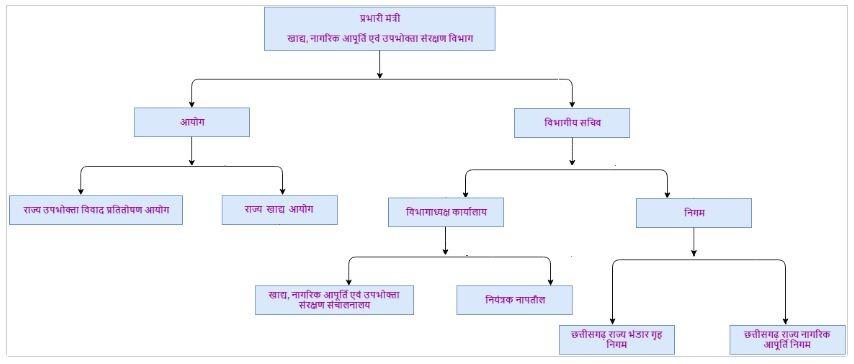 cg khadya vibhag structure