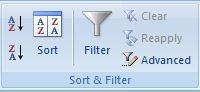 Types Filter Option in MS Excel