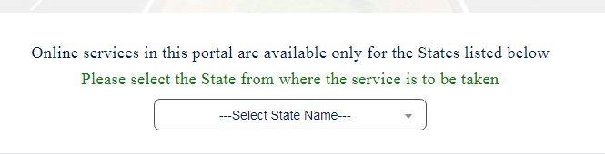 Select State name पर क्लिक करें