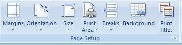 Page Setup Page
