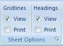 Sheet Option